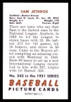 1951 Bowman REPRINT #242  Sam Jethroe  Back Thumbnail