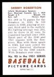 1951 Bowman REPRINT #95  Sherry Robertson  Back Thumbnail