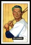 1951 Bowman REPRINT #124  Gus Niarhos  Front Thumbnail