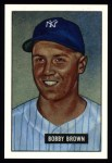 1951 Bowman REPRINT #110  Bobby Brown  Front Thumbnail