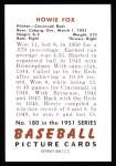1951 Bowman REPRINT #180  Howard Fox  Back Thumbnail
