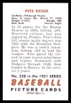 1951 Bowman REPRINT #238  Pete Reiser  Back Thumbnail