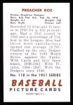 1951 Bowman REPRINT #118  Preacher Roe  Back Thumbnail