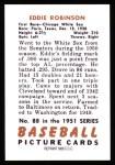 1951 Bowman REPRINT #88  Eddie Robinson  Back Thumbnail