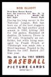 1951 Bowman REPRINT #66  Bob Elliott  Back Thumbnail