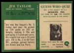1966 Philadelphia #89  Jim Taylor  Back Thumbnail