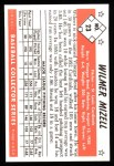 1953 Bowman B&W Reprint #23  Wilmer Mizell  Back Thumbnail