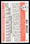 1953 Bowman B&W Reprint #54  Bill Miller  Back Thumbnail
