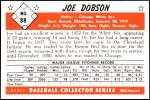 1953 Bowman REPRINT #88  Joe Dobson  Back Thumbnail