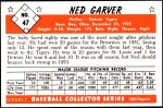 1953 Bowman REPRINT #47  Ned Garver  Back Thumbnail