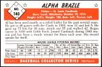 1953 Bowman REPRINT #140  Al Brazle  Back Thumbnail