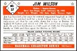 1953 Bowman REPRINT #37  Jimmy Wilson  Back Thumbnail