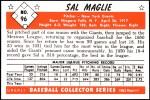 1953 Bowman REPRINT #96  Sal Maglie  Back Thumbnail