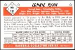 1953 Bowman REPRINT #131  Connie Ryan  Back Thumbnail