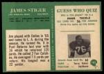 1966 Philadelphia #103  Jim Stiger  Back Thumbnail