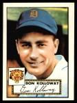 1952 Topps REPRINT #104  Don Kolloway  Front Thumbnail