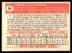 1952 Topps REPRINT #297  Andy Seminick  Back Thumbnail