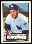 1952 Topps REPRINT #307  Frank Campos  Front Thumbnail