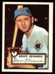 1952 Topps REPRINT #224  Bruce Edwards  Front Thumbnail