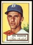 1952 Topps REPRINT #198  Phil Haugstad  Front Thumbnail