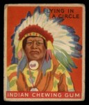 1933 Goudey Indian Gum #133   Flying in Circle  Front Thumbnail