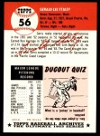 1953 Topps Archives #56  Gerry Staley  Back Thumbnail