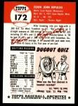 1953 Topps Archives #172  Rip Repulski  Back Thumbnail