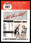 1953 Topps Archives #197  Del Crandall  Back Thumbnail
