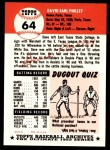 1953 Topps Archives #64  Dave Philley  Back Thumbnail