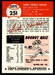 1953 Topps Archives #251  Sid Hudson  Back Thumbnail