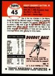 1953 Topps Archives #45  Grady Hatton  Back Thumbnail