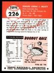 1953 Topps Archives #226  Ed Erautt  Back Thumbnail