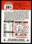 1953 Topps Archives #281  Jimmy Dykes  Back Thumbnail