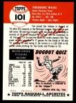 1953 Topps Archives #101  Ted Wilks  Back Thumbnail