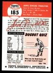 1953 Topps Archives #185  Jim Pendleton  Back Thumbnail