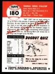 1953 Topps Archives #180  Virgil Stallcup  Back Thumbnail