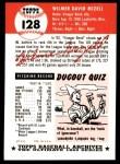 1953 Topps Archives #128  Wilmer Mizell  Back Thumbnail
