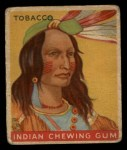 1933 Goudey Indian Gum #123   Tobacco  Front Thumbnail