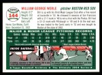 1954 Topps Archives #144  Bill Werle  Back Thumbnail