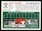 1954 Topps Archives #40  Mel Parnell  Back Thumbnail
