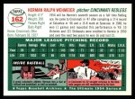 1954 Topps Archives #162  Herm Wehmeier  Back Thumbnail