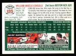 1954 Topps Archives #195  Bill Consolo  Back Thumbnail