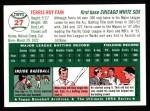 1954 Topps Archives #27  Ferris Fain  Back Thumbnail