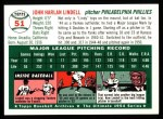 1954 Topps Archives #51  Johnny Lindell  Back Thumbnail