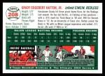 1954 Topps Archives #208  Grady Hatton  Back Thumbnail