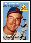 1954 Topps Archives #142  Tom Poholsky  Front Thumbnail