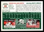 1954 Topps Archives #48  Billy Hunter  Back Thumbnail