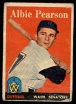 1958 Topps #317  Albie Pearson  Front Thumbnail