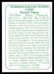1978 TCMA The Stars of the 1960s #49  Norm Cash  Back Thumbnail