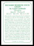 1978 TCMA The Stars of the 1960s #150  Dick Groat  Back Thumbnail